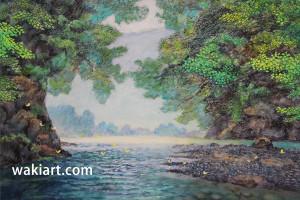 川渡り<水彩>